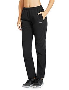 Baleaf Women's Windproof Cycling Fleece Thermal Winter Pants Black Size XS *** More info could be found at the image url.