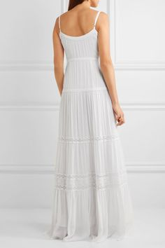 Melissa Odabash - Mollie Lace-trimmed Voile Maxi Dress - White - x small