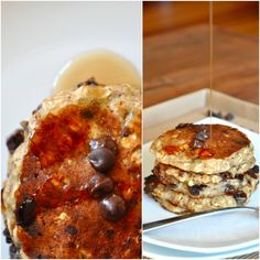 Chocolate Chip Oatmeal Pancakes | Vegan Pancakes