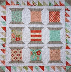 Check out the wonderful quilting... from Carol's Crafty Creations