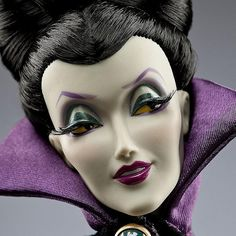 Disney Villain Designer Dolls | Disney Villains Designer Maleficent Doll - Headshot | Flickr - Photo ...