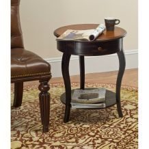 Emma Round Side Table with Drawer