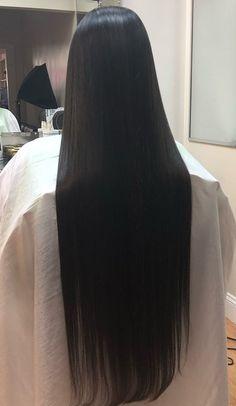 Straight Black Hair, Long Dark Hair, Very Long Hair, Hair Color For Black Hair, Long Black, Sugar Bear Hair, Chelsea Houska Hair, Dyed Hair Purple, Long Hair Video