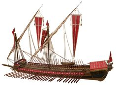 Galley model of the fearsome knights of St. John who operated out of the Mediterranean island of Malta.
