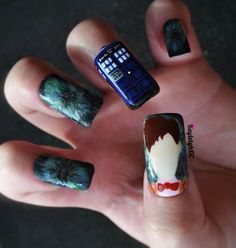 KayleighOC geeky Nails 1 - Doctor Who