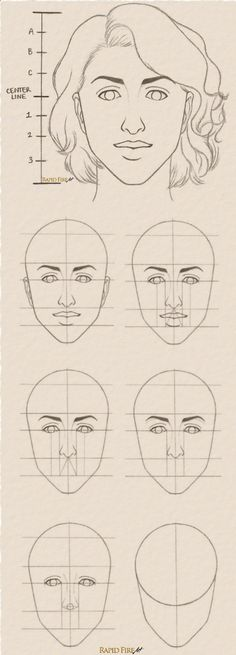Drawing Pencil Portraits - Tutorial: How to draw Female Face Step by Step See full tutorial here: rapidfireart.com/... (Diy Face Drawing) Discover The Secrets Of Drawing Realistic Pencil Portraits