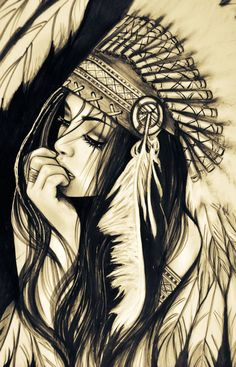 Taino Indian Tattoos - The Timeless Style of Native American Art - Tattoo Shops Near Me Local Directory Native American Girls, American Indians, Pencil Art, Pencil Drawings, Cool Drawings, Drawing Sketches, Bild Tattoos, Chicano Art, Tatoo Art