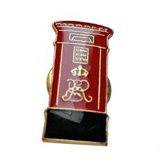 Whimsical British Post Box / Mailbox London, England UK Lapel Pin Badge Souvenir