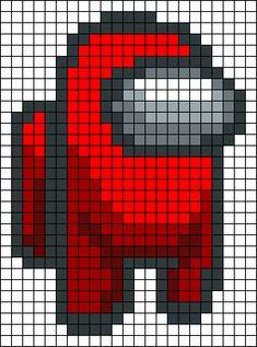 Pixel Art Templates, Perler Bead Templates, Diy Perler Beads, Perler Bead Art, Perler Patterns, Easy Pixel Art, Pixel Art Grid, Cross Stitch Art, Cross Stitch Patterns