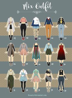 (Open casual outfit adopts 11 by rosariy roupas de anime, Cartoon Outfits, Anime Outfits, Girl Outfits, Casual Outfits, Fashion Design Drawings, Fashion Sketches, Crochet Party Dresses, Desenho Harry Styles, Drawing Anime Clothes