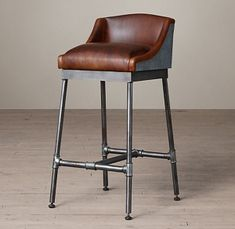 Best Of Industrial Leather Bar Stool