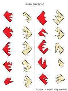 * Welke stukken passen in elkaar? 2-5