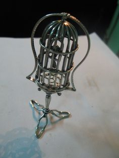 S 28g Silver Italian s Art Miniature PARROT CAGE 800 Sterling SILVER by spyrinex06 on Etsy