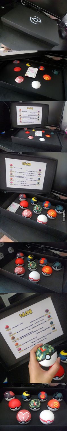 I made these Pokestress ball for him