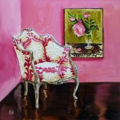 A Chair For Berthe, Painting By Artist Kimberly Applegate