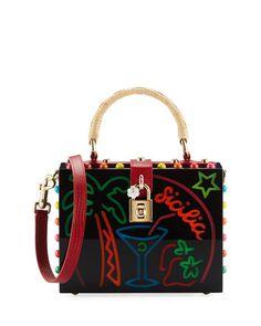 Dolce+Box+Medium+Mirror+Crystal+Shoulder+Bag+by+Dolce+&+Gabbana+at+Bergdorf+Goodman.