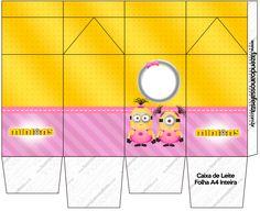 Caixa de Leite Minions para Meninas