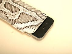 Leather iPhone 4/4S/5 case // genuine SNAKE skin by GIONTechnology, $75.00