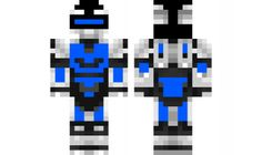 minecraft skin blue cool