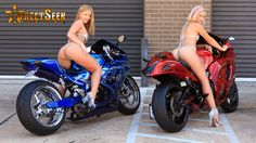 Behind the scenes of our Volume 35 bike shoot of Peter Piña's and Chris Washinton's Suzukis from Nokturnal Texas with the gorgeous ladies Mia Mickey and Amy Prause adding the sexiness.