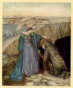 Merlin and Nimue by Arthur Rackham