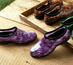 Sloggers Waterproof Paw Print Garden Shoes w/ Comfort Insoles