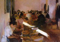 """""""Encajonando pasas"""" (Javea, 1901). Joaquin Sorolla (Valencia, 1863- Madrid, 1923). Colección privada."""
