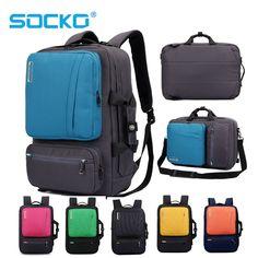 da8a563f4310 9% СКИДКА|17 дюймов рюкзак для ноутбука 15 15,4 15,6 многофункциональная  сумка портфель на ремне сумка школьная сумка для Macbook Pro man women  купить на ...