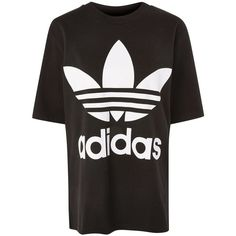 Big Trefoil Boxy T-Shirt by Adidas Originals ($45) ❤ liked on Polyvore featuring tops, t-shirts, adidas, black, adidas t shirt, cotton t shirts, adidas top, boxy top and boxy t shirt
