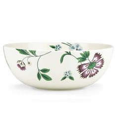 This graphic floral and bird print Serving Bowl by Aerin for Lenox is casual, yet elegant. Perfect for easy entertaining.
