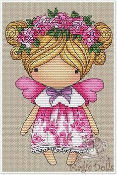 Easy Cross Stitch Patterns, Simple Cross Stitch, Cross Stitch Designs, Art Forms, Decoupage, Teddy Bear, Embroidery, Dolls, Stitches