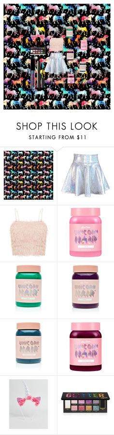 """""""Unicorn"""" by catthepunisher ❤ liked on Polyvore featuring Lime Crime, ASOS and Too Faced Cosmetics"""
