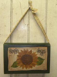 Sunflower Hanging Book