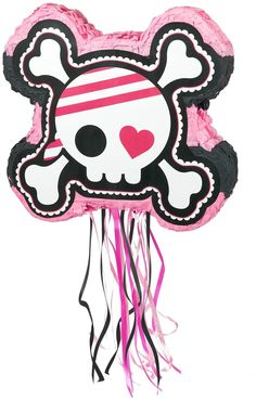 PartyBell.com - Pretty Pirates Party Pull-String #Pinata