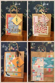 Decorated paper bags