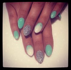 Acrylic almond ombre nails. Perfect for summer!