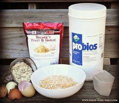 Fresh Eggs Daily: DIY Chicken Feed Supplement Canister Organization