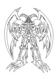 Great Beings from Yu Gi Oh anime coloring pages for kids, printable free