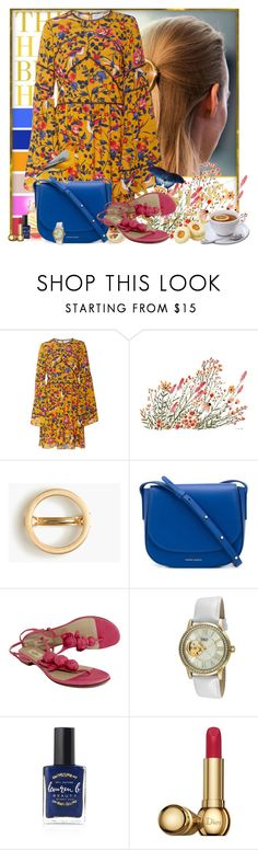 """Floral spring"" by pusja76 ❤ liked on Polyvore featuring Tanya Taylor, J.Crew, Mansur Gavriel, Valentino, TKO Orlogi, Lauren B. Beauty and Christian Dior"