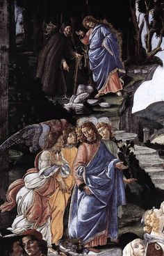 BOTTICELLI, Sandro / Three Temptations of Christ 1481-82 / Fresco, 345 x 555 cm Cappella Sistina, Vatican