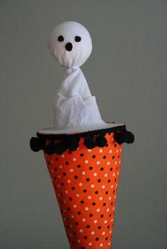 bybido: Halloween Pop-Up Cone Puppet Tutorial