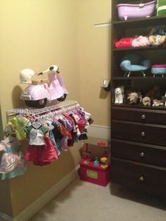 Hanging Bar Within Reach For Little Ones To Access · Doll StorageHanging Bar Girl ThingsDoll StuffAmerican ...