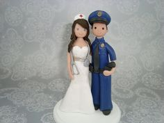 Personalized wedding cake toppers... So cute!