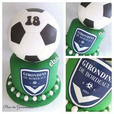 Gâteau foot pour une fan des Girondins de Bordeaux