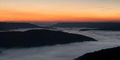Beautiful sunrise and fog above the Buffalo National River | Ponca, Arkansas