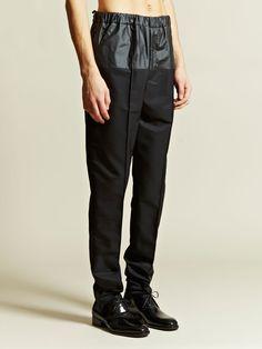 Balenciaga Men's Silk Gabardine Pants