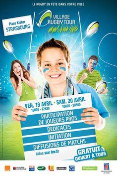 Affiche officielle du Village Rugby à Strasbourg les 19 et 20 avril 2013!