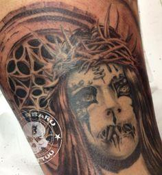 #tattoo #tattooist #tattooed #joeyjordison #joeyjordisontattoo #slipknot #slipknottattoo #blackandgreytattoo #terrortattoo #heavymetaltattoo