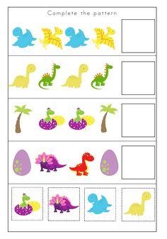 Dinosaurs Preschool, Dinosaur Activities, Preschool Writing, Homeschool Kindergarten, Preschool At Home, Kids Learning Activities, Toddler Preschool, Preschool Activities, Kindergarten Addition Worksheets