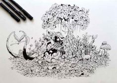 incredibly detailed drawings kerby rosanes 7